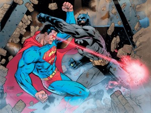 Superman vs Batman in the comics.